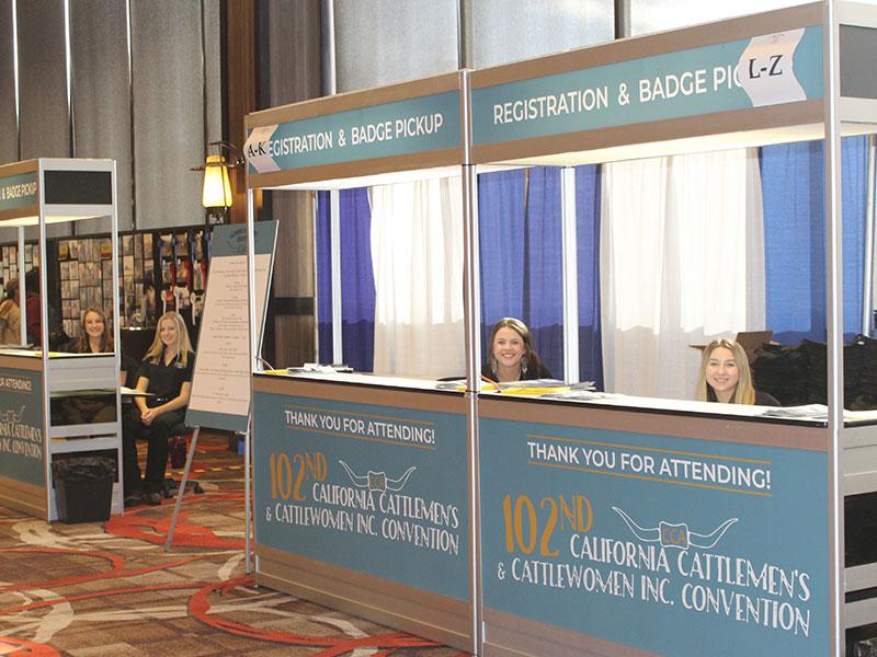 CCA Convention Interns at registration