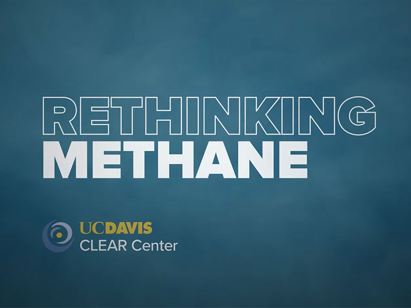 """""""Rethinking Methane"""" a screenshot of the video produced by the CLEAR Center at UC Davis"""