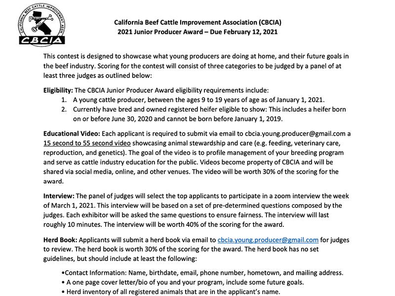 CBCIA 2021 Junior Producer Award – Due February 12, 2021